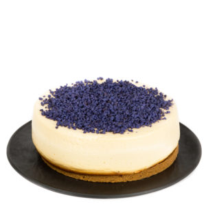 Cheesecake Chocolate blanco con violetas - CHIS&KEIK