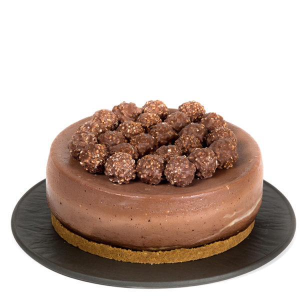 Cheesecake con Nutella y Ferrero Rocher